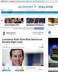 Louisiana Polls Good News For Santorum But With: Huffington Post